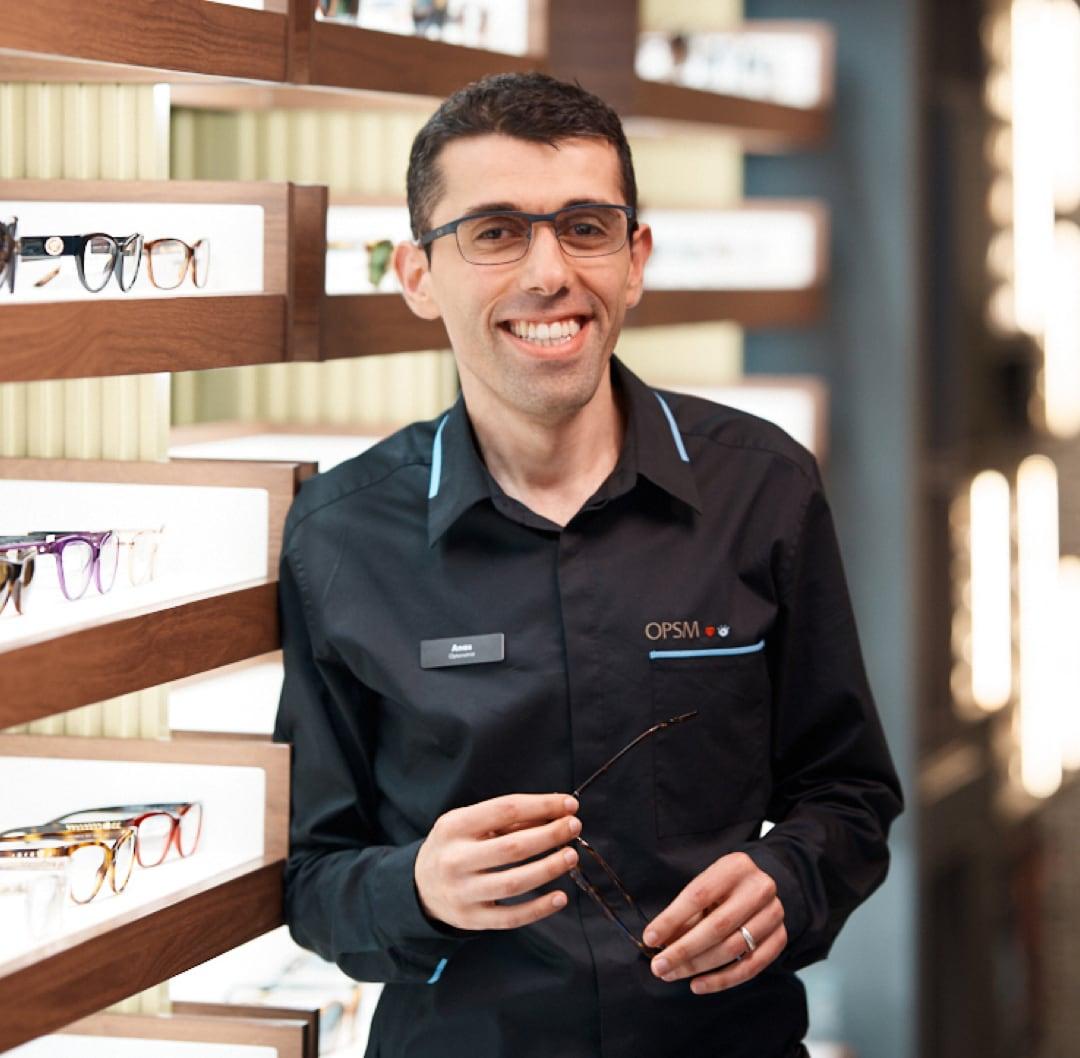 Doctor Anas smiling at work