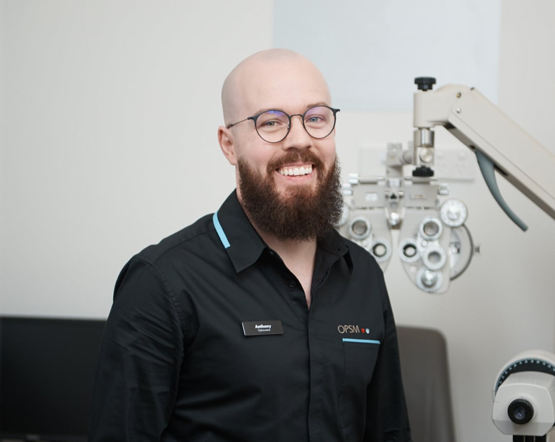 Doctor Anthony smiling at work