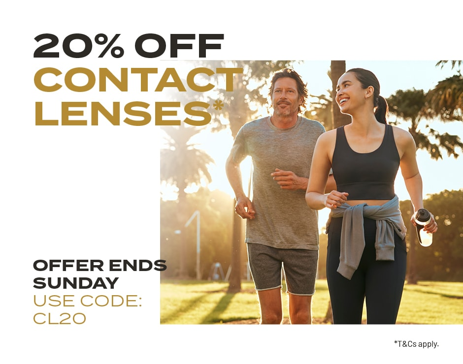 20% Off Contact Lenses Banner