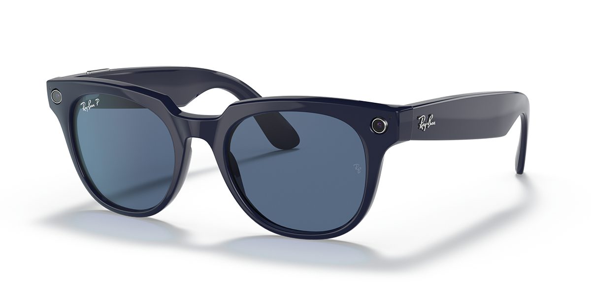 Ray-Ban Stories Meteor Blue Sunglasses quarter