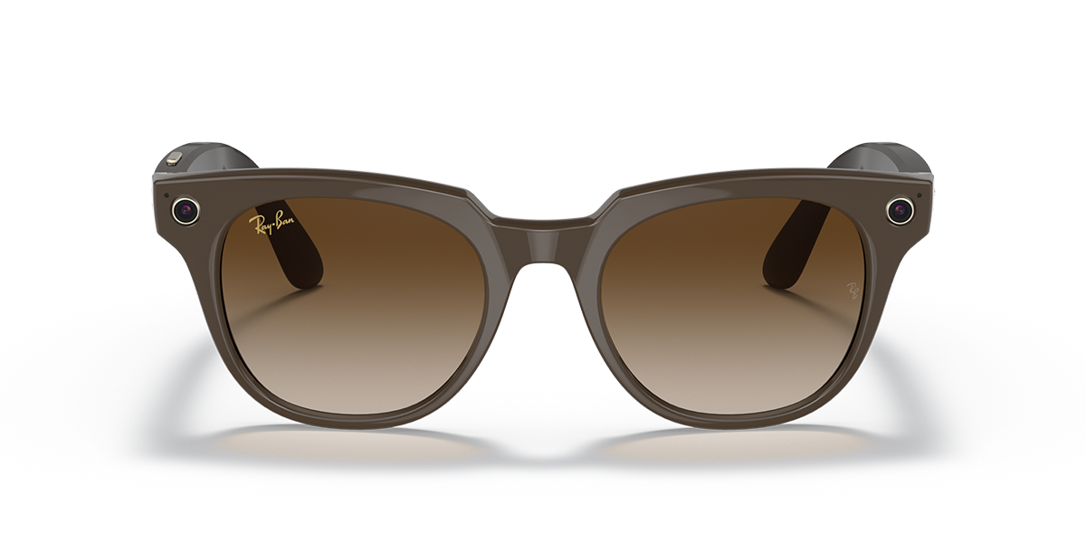 Ray-Ban Stories Meteor Brown Sunglasses front