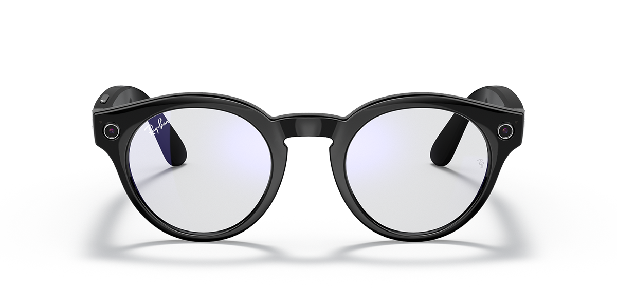 Ray-Ban Stories Round Clear front