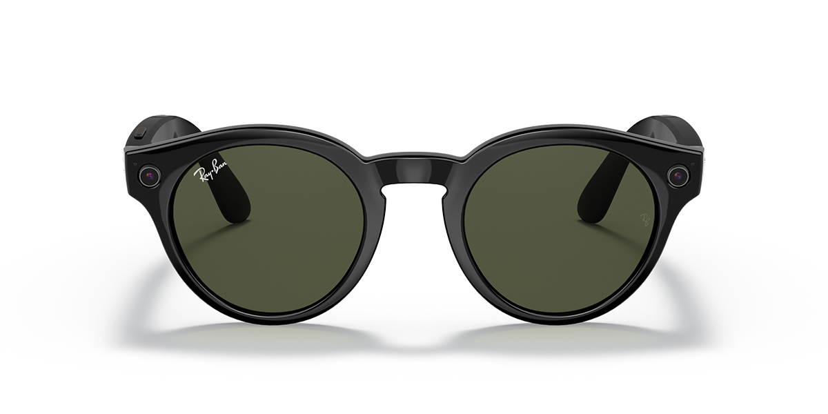 Ray-Ban Stories Round Black Sunglasses front