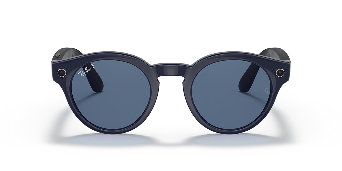 Ray-Ban Stories Round Blue Sunglasses front