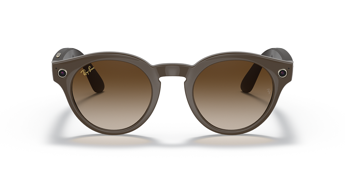 Ray-Ban Stories Round Brown Sunglasses front