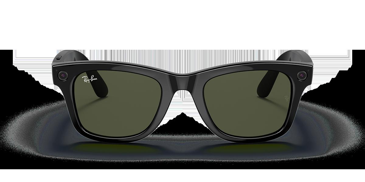 Ray-Ban Stories Wayfarer Black Sunglasses front