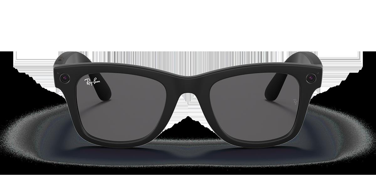 Ray-Ban Stories Wayfarer Shiny Black Sunglasses front