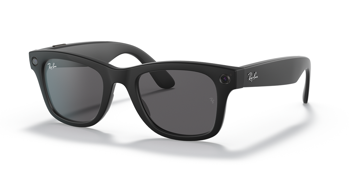 Ray-Ban Stories Wayfarer Shiny Black Sunglasses quarter