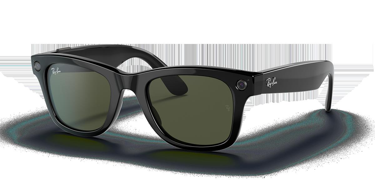 Ray-Ban Stories Wayfarer Black Sunglasses quarter