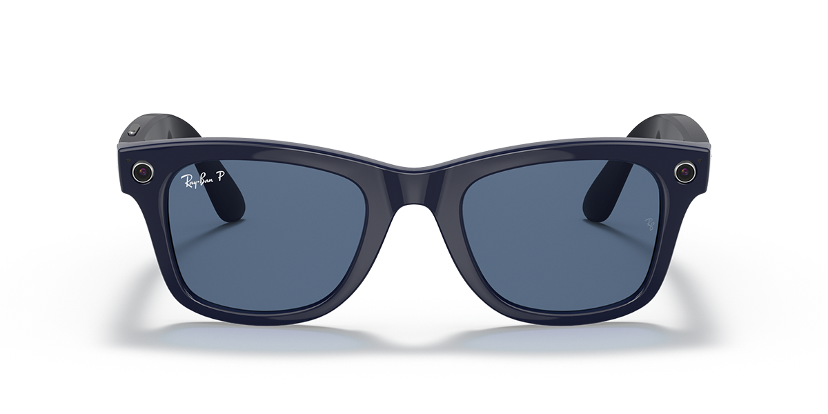 Ray-Ban Stories Wayfarer Blue Sunglasses front