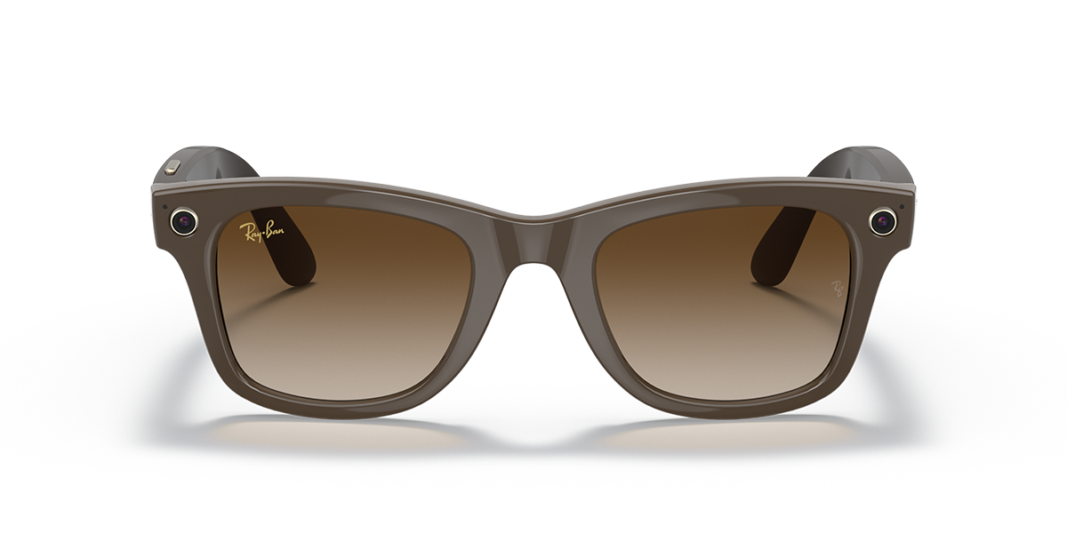 Ray-Ban Stories Wayfarer Brown Sunglasses front